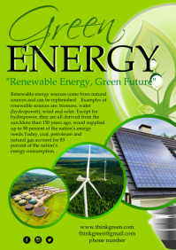 Green Energy Poster template A4