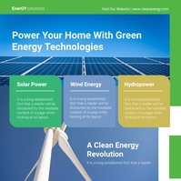 Green Energy Service Ad Pos Instagram template