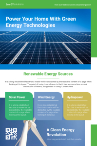 Green Energy Service Poster template