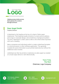 Green Environment Letterhead A4 template