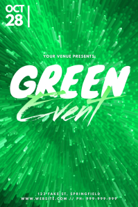 Green Event Poster