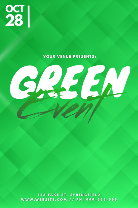 Green Event Poster template