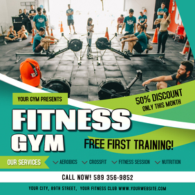 Green Fitness Gym Ad Instagram Post