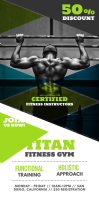 Green Fitness Rollup Banner