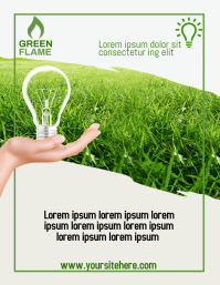 Green flame Pamflet (Letter AS) template