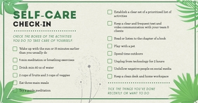 Green Floral Self-care Work from Home Checkli Facebook Shared Image template
