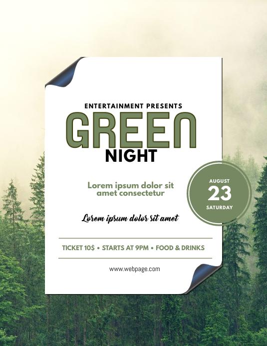 Green Forest Event flyer design template