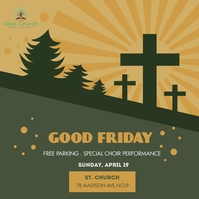 Green Good Friday Church Ministry Instagram P template