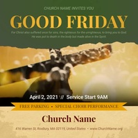 Green Good Friday Square Video Kwadrat (1:1) template