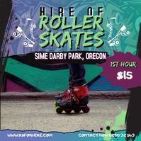 Green Graffiti Roller Skating Instagram Video template