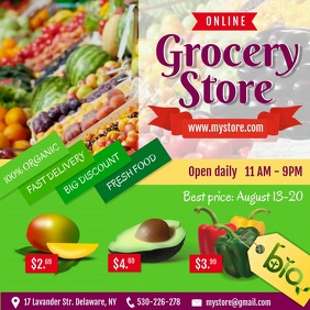 Green Grocery Story Ad Square Video