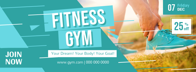 Green Gym Fitness Facebook Cover Photo