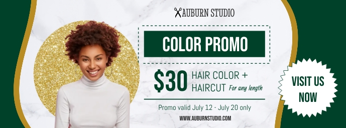 Green Hair Salon Promotion Banner