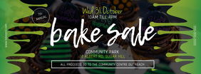 Green Halloween Bake Sale Facebook Cover template
