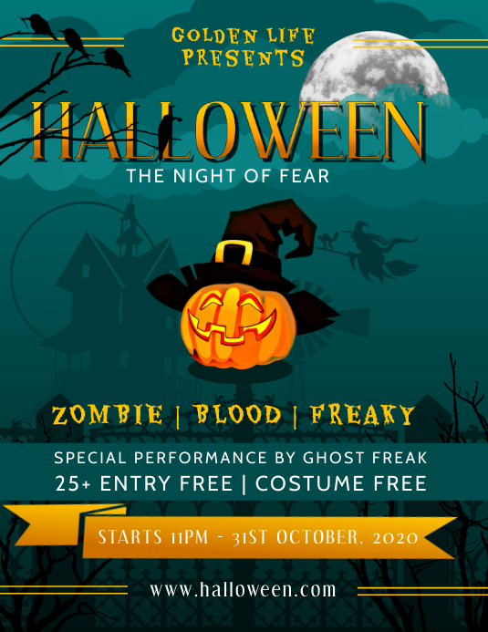 Green Halloween Flyer