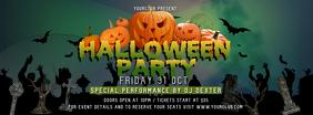 Green Halloween Party Facebook Cover Photo