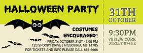 Green Halloween Party Facebook Cover Photo