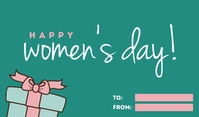 Green Happy Women's Day 标记 template