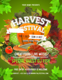 Green Harvest Festival Flyer