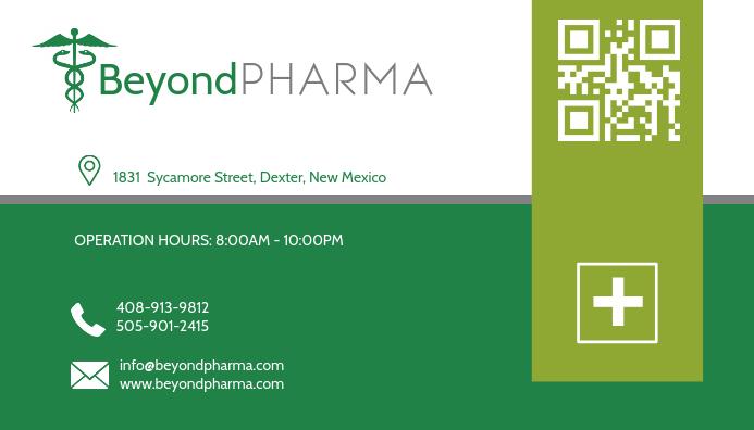 Green Health Business Card Design Kartu Bisnis template