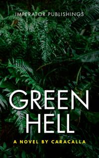 green hell jungle book cover Portada de Kindle template