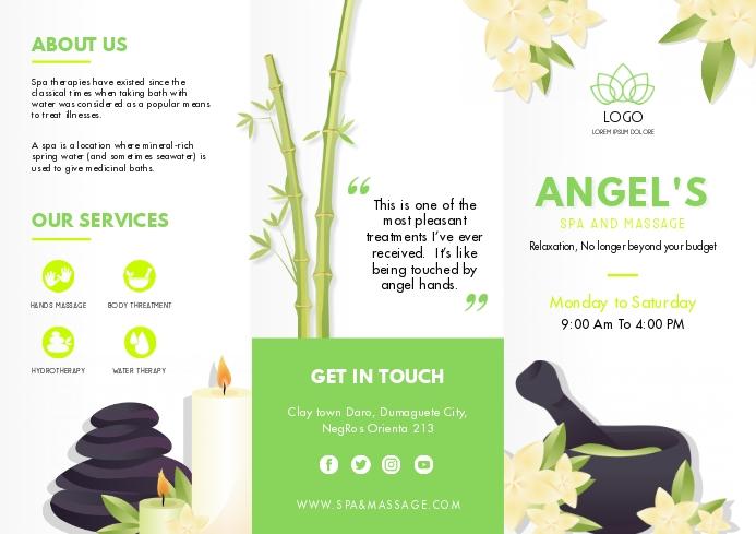 Green Herbal Spa Brochure Template A4