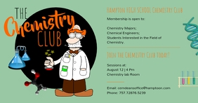 Green high school chemistry club fb post Facebook Shared Image template