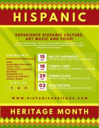 Green Hispanic Heritage Month Flyer