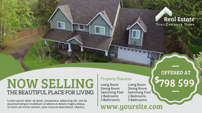 Green Home Selling Video AD Template Digitalt display (16:9)