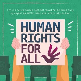 Green Human Rights Instagram Image template