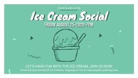 Green Ice Cream Social Facebook Banner