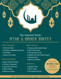 Green Iftar Buffet Menu Design