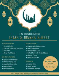 Green Iftar Buffet Menu Design