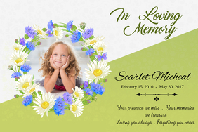 Green In Loving Memory Poster Template  Funeral Poster Templates