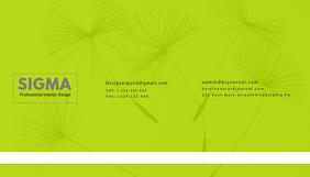 Green Interior Design Business Card Template