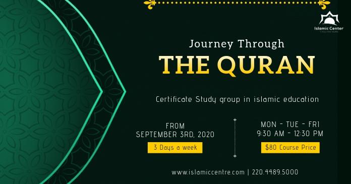 Green Islamic Sermon Invitation Facebook Post