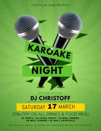 Green Karaoke Night Flyer