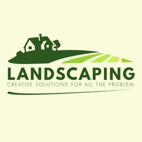 Green Landscaping Logo template