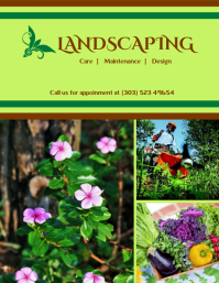Green Landscaping Service Flyer