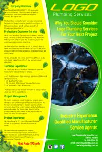 Green Logo Poster template
