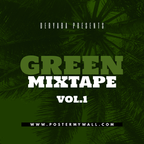 Green Mixtape CD Cover template