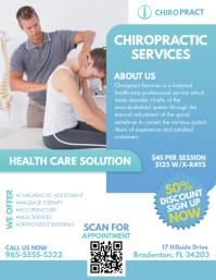 Green Modern Chiropractic Services Flyer Temp