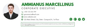 Green modern signature email template