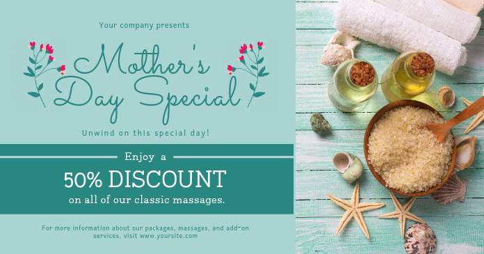 Green Mother's Day Spa Deal Gift Certificate