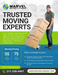 Green Movers Services Flyer 传单(美国信函) template