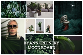 Green Nature Moodboard Collage Poster Templat