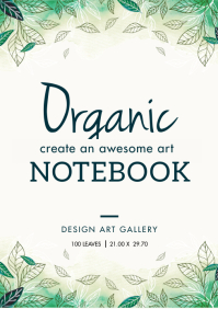 Green Nature Notebook Cover Design