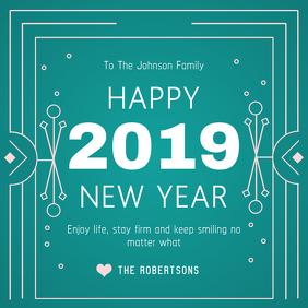 Green New Year Wish Instagram Post