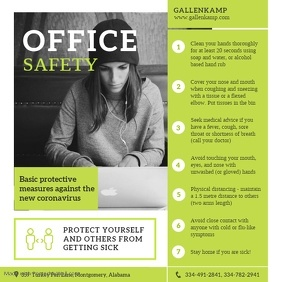 Green Office Workplace Etiquette Image Instagram Post template