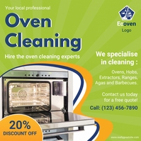Green Oven Cleaning Service Advert Instagram Post template
